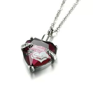 Jewelry - Meaeguet glass heart cremation urn necklace